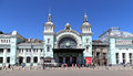Belorussky railway station-- is one of the nine main railway stations in Moscow, Russia Royalty Free Stock Photo