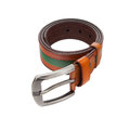 Belt leather on white background Stock Images