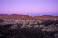 Belt of venus during sunrise in the volcanic place close to mojave desert in california the or venuss girdle is an atmospheric Stock Image