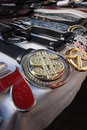 Belts and buckles at market Royalty Free Stock Photo