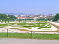 Belvedere gardens the is a historic building complex in vienna austria consisting of two baroque palaces the upper and lower the Stock Photo