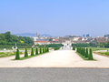 Belvedere gardens the is a historic building complex in vienna austria consisting of two baroque palaces the upper and lower the Royalty Free Stock Image