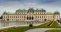Belvedere palace the on may in vienna austria the belevedere is a famous landmark and a major european art gallery stock photo Stock Photos