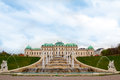 Belvedere palace vienna austria famous and park Stock Photo