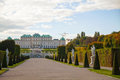 Belvedere palace in vienna austria on a sunny day Royalty Free Stock Photography