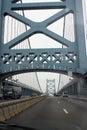 Ben Franklin bridge Zdjęcie Stock