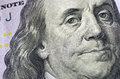Ben Franklin Hundred Dollar Bill Macro Royalty Free Stock Photo