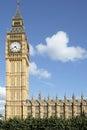 Ben london houses grande do parlamento vertical espaço da cópia Imagens de Stock
