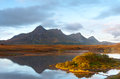 Ben Loyal viewed from Lochan Hakel Royalty Free Stock Photo