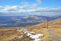Ben nevis range view from the top of and gondola scotland Royalty Free Stock Photos