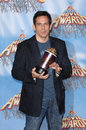 Ben stiller actor at the mtv movie awards at the shrine auditorium he won the award for best villain for his role in dodgeball a Stock Photography