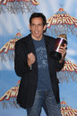 Ben stiller actor at the mtv movie awards at the shrine auditorium he won the award for best villain for his role in dodgeball a Royalty Free Stock Images