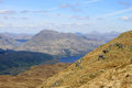 Ben vorlich loch sloy and loch lomond scotland view from ptarmigan on the west side of looking towards with reservoir for hydro Royalty Free Stock Photos