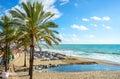 Benalmadena beach. Malaga, Andalusia, Spain Royalty Free Stock Photo