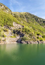 Benasque river surrounded by mountains situated in the spanish province of huesca it s a sunny day in pyrennes mountains it s a Stock Images