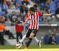 Benat etxebarria of athletic club bilbao during a spanish league match against rcd espanyol at the power stadium on april in Stock Photos