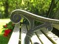 Bench Arm Royalty Free Stock Photo