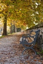 Bench fall Stock Photography