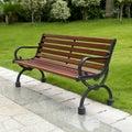 Bench in garden Royalty Free Stock Photo