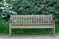 Bench in a garden! Royalty Free Stock Photo