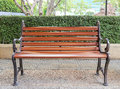 Bench in garden Royalty Free Stock Photo