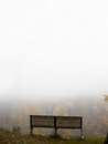 Bench at the hill. Royalty Free Stock Images
