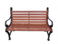 Bench isolation wood brown on white background Stock Photography
