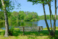 Bench With Lake View Royalty Free Stock Photo