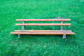 Bench in a nature park Royalty Free Stock Photography