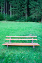 Bench in a nature park Stock Photo