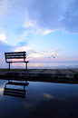 Bench near the beach Royalty Free Stock Photo