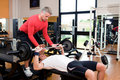Bench press at gym Royalty Free Stock Photo