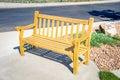 Bench on Sidewalk Royalty Free Stock Photo
