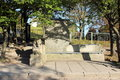 Bench with stone lions Royalty Free Stock Photo