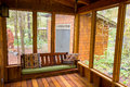 Bench Swing in Screened Porch Royalty Free Stock Image