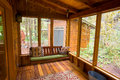 Bench Swing in Screened Porch Stock Image