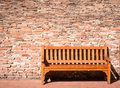 Bench wooden park at a park Stock Photos