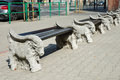 Benches On Animal Statues