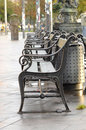 Benches in the city Royalty Free Stock Photo