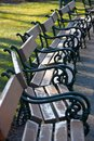 Benches in a park Royalty Free Stock Photography