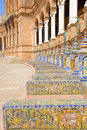 Benches of  Plaza de Espa?a, Sevilla, Spain Stock Photography