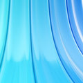 Bend blue stripes abstract background copyspace shiny Stock Image