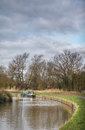 Bend in the grand union canal at welford england Stock Photography