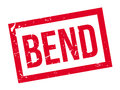 Bend rubber stamp Royalty Free Stock Photo