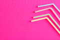 Bended drinking straws Royalty Free Stock Photo