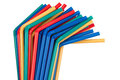 Bended plastic straws Stock Photo