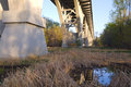 Beneath Mendota Bridge at Fort Snelling State Park Stock Images