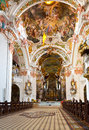 Benedictine abbey of einsiedeln switzerland interior Royalty Free Stock Photo