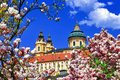 Benedictine abbey in melk austria Royalty Free Stock Images
