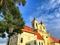 Benedictine monastery and abbey of Rajhrad. Czech Republic Royalty Free Stock Photo